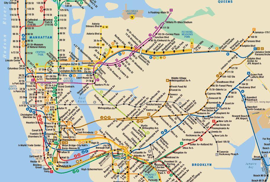 metro NY   Voyager aux USA